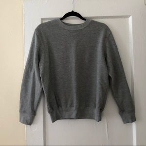 Sweaters - Gray pullover sweatshirt